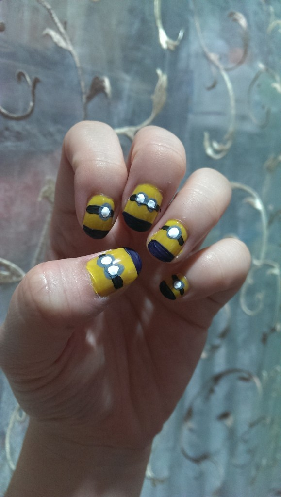 Despicable Me Minions Nail Art