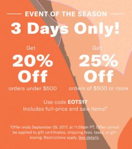 Shopbop EOTS17 Sale