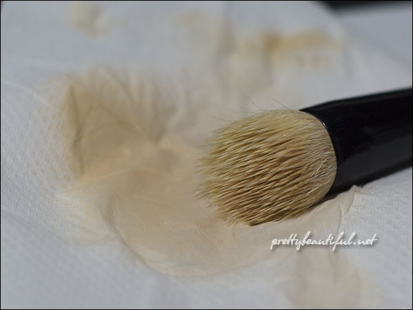 brush after cleansing